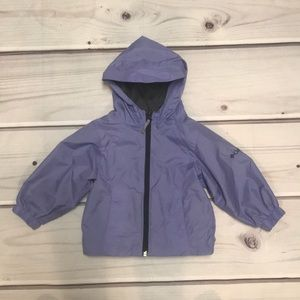 EUC Columbia Hooded Lavender Windbreaker Size 2T
